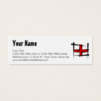 England Brush Flag Mini Business Card