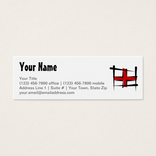 England Brush Flag Mini Business Card