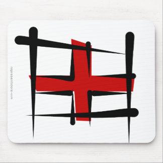England Brush Flag Mouse Pad