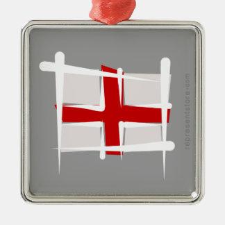England Brush Flag Christmas Tree Ornament