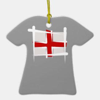 England Brush Flag Ornament