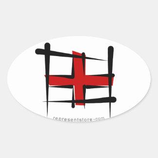 England Brush Flag Sticker
