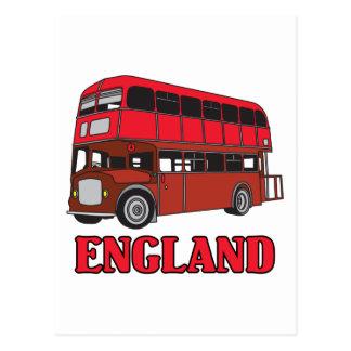 England Bus Postcard