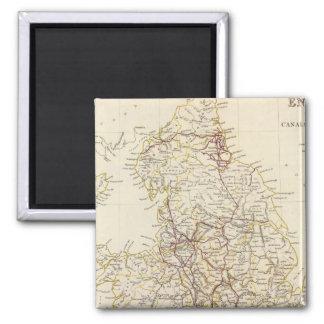 England canals, railways refrigerator magnet