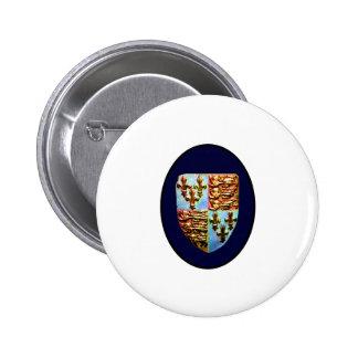 England Canterbury Church Crest Blue bg The MUSEUM 2 Inch Round Button