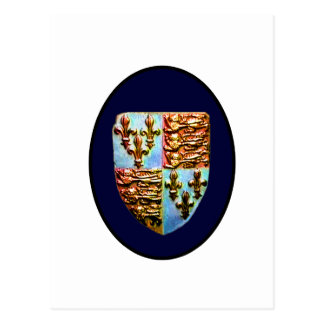 England Canterbury Church Crest Blue bg The MUSEUM Postcard