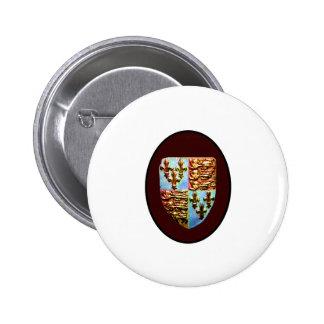 England Canterbury Church Crest Brown bg The MUSEU 2 Inch Round Button