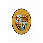 England Canterbury Church Crest Gold bg The MUSEUM Postcard