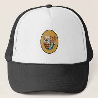 England Canterbury Church Crest Gold bg The MUSEUM Trucker Hat