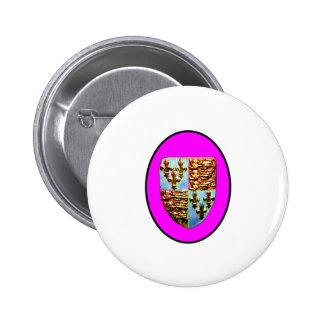 England Canterbury Church Crest Magenta bg The MUS 2 Inch Round Button