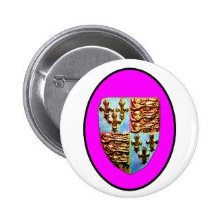 England Canterbury Church Crest Magenta bg The MUS Pin