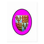 England Canterbury Church Crest Magenta bg The MUS Postcard
