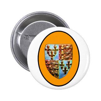 England Canterbury Church Crest Orange bg The MUSE 2 Inch Round Button