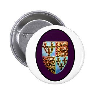England Canterbury Church Crest Purple bg The MUSE 2 Inch Round Button