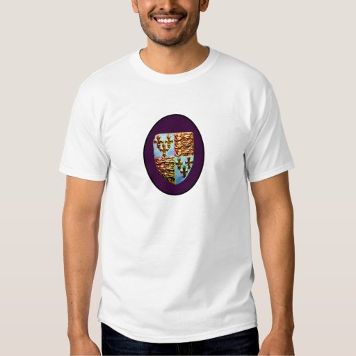 England Canterbury Church Crest Purple bg The MUSE T-shirts