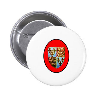 England Canterbury Church Crest Red bg The MUSEUM 2 Inch Round Button