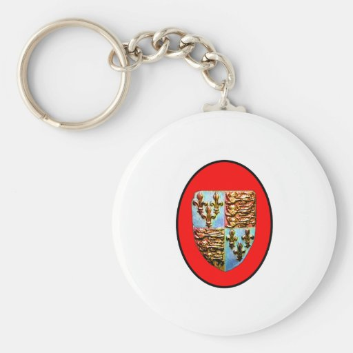 England Canterbury Church Crest Red bg The MUSEUM Keychain