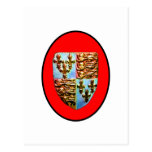 England Canterbury Church Crest Red bg The MUSEUM Post Card