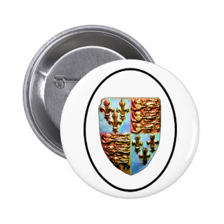 England Canterbury Church Crest Transp bg The MUSE 2 Inch Round Button