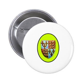 England Canterbury Church Crest Yellow bg The MUSE 2 Inch Round Button