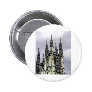 England Canterbury Church Spirals 1 The MUSEUM Zaz 2 Inch Round Button