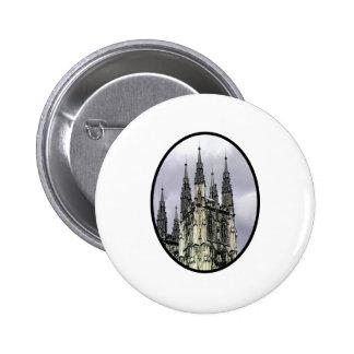 England Canterbury Church Spirals Black o The MUSE Pinback Button