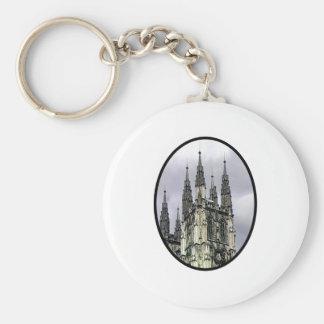 England Canterbury Church Spirals Black o The MUSE Key Chain