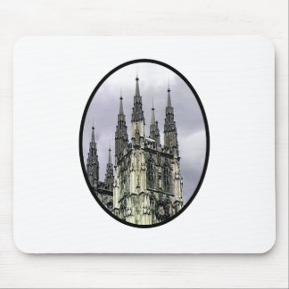 England Canterbury Church Spirals Black o The MUSE Mouse Pad