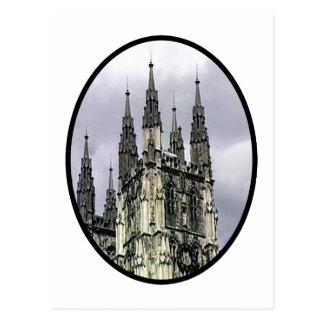 England Canterbury Church Spirals Black o The MUSE Postcard