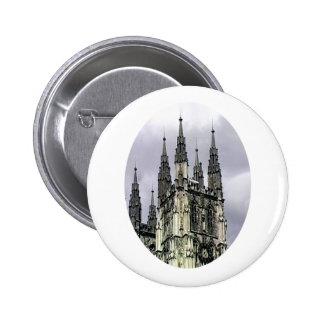 England Canterbury Church Spirals o The MUSEUM Zaz Pinback Buttons