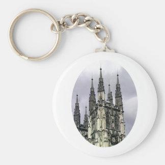 England Canterbury Church Spirals o The MUSEUM Zaz Keychain
