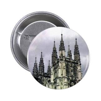 England Canterbury Church Spirals The MUSEUM Zazzl Pinback Button