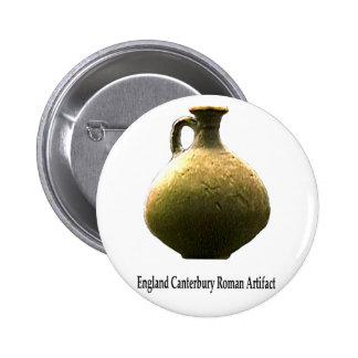 England Canterbury Roman Artifact Pottery 1 Transp 2 Inch Round Button