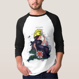 England Caricature Map T-Shirt