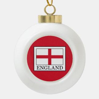 England Ceramic Ball Christmas Ornament