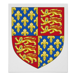 England Coat of Arms (1340) Poster