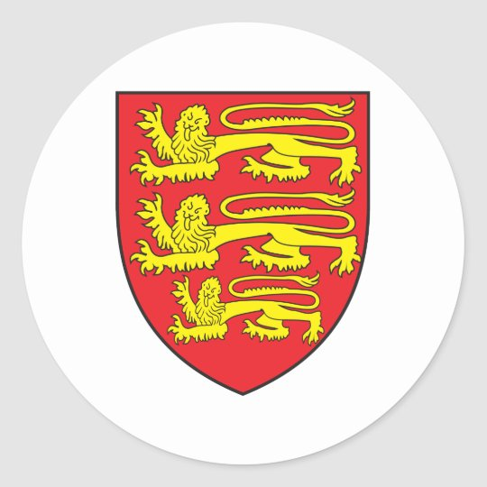 England Coat Of Arms Classic Round Sticker