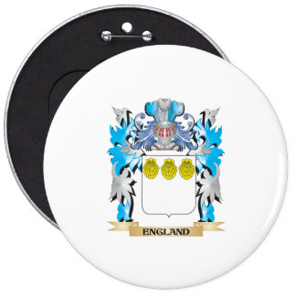 England Coat of Arms - Family Crest Button