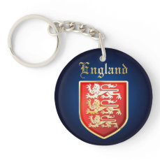 England - Coat of Arms Keychain
