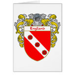 England Coat of Arms (Mantled) Card