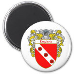 England Coat of Arms (Mantled) Refrigerator Magnets