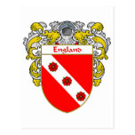 England Coat of Arms (Mantled) Post Card