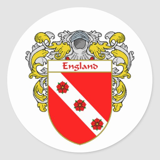 England Coat of Arms (Mantled) Stickers