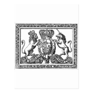 England Coat of Arms Postcard