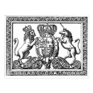 England Coat of Arms Postcard