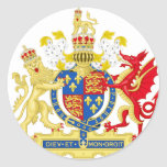 England Coat of arms Round Sticker