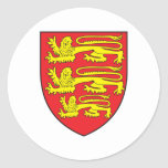 England Coat Of Arms Round Stickers