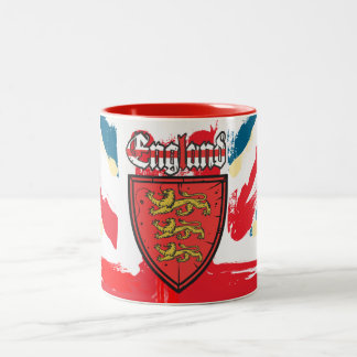 England Coat of Arms Two-Tone Coffee Mug