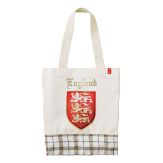 England - Coat of Arms Zazzle HEART Tote Bag