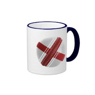 England Cricket Ball Ringer Coffee Mug